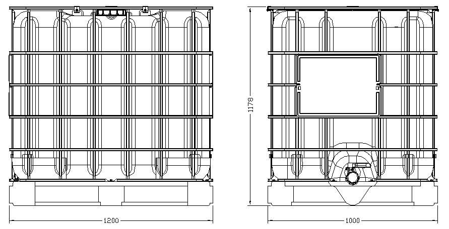 ibc metal pallet series 1000l sm13